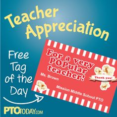 Download our free Teacher Appreciation gift tags from the PTO Today File Exchange!
