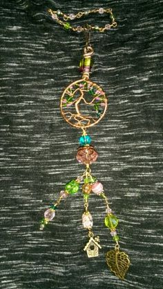 Tree of life sun catcher. Purse charm car charm.