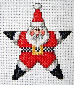 Christmas Cross stitch - Star Santa