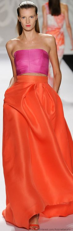 Monique Lhuillier | S/S 2014  Love these colors
