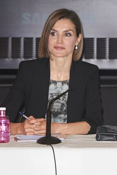 Queen Letizia of Spain attends a meeting with members of AECC at the Real Academia de Bellas Artes de San Fernando on June 9 2015 in Madrid Spain