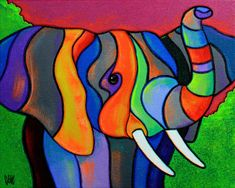 Multitusker The post Multitusker appeared first on Kunst und Design. Colorful Paintings, Beautiful Paintings, Silk Painting, Stained Glass Art, Art Pictures, Collage Art, Art Lessons, Cat Art, Folk Art