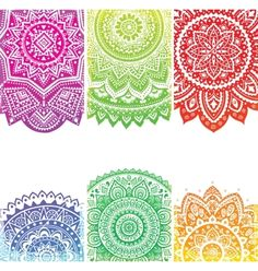 Beautiful indian ornament vector 1237824 - by transia on VectorStock®