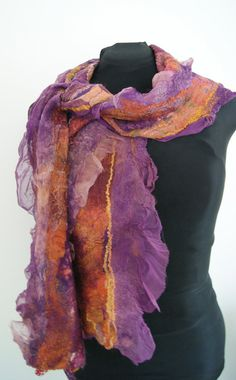 Nuno Felted scarf  a SugarPlum Original by J by sugarplumoriginals, $199.00