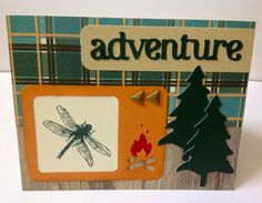 """Scrapbooking Sue: Timberline """"Adventure"""" Card with Close To My Heart (CTMH) papers and stamps, and the Artbooking cartridge.  www.scrapbookingsue.blogspot.com"""