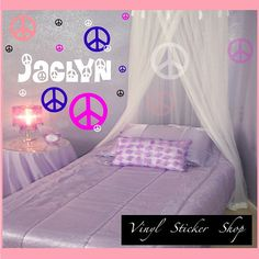 16 Peace Sign Vinyl Car or Wall Decal Kit by TheVinylStickerShop