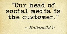 McDonald's quote on social media