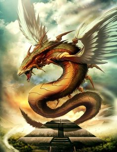 Q, The Serpent God - Quetzalcoatl, Aztec God of the Sky, receives a series of human blood sacrifices every 52 years in order to keep everything in the universe from collapsing; Some say a secret cult still worships him and gives him human sacrifices even today.
