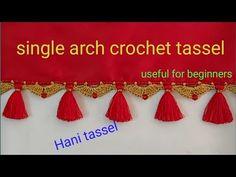 arch crochet kuchu, tassel in telugu/easy,fast,quick crochet saree kuchu,tassel in telugu Saree Tassels Designs, Saree Kuchu Designs, Devotional Quotes, Quick Crochet, Hani, Crochet Designs, Telugu, Arch, Blouses
