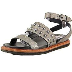 Pink 6 M US SODA Womens Vista Faux Leather Color Gem Rhinestone Teardrop Slingback Flat Sandals