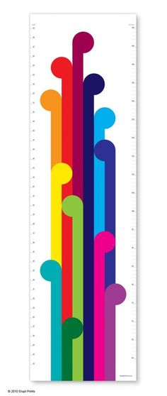 Modern Rainbow Growth Chart by Erupt Prints