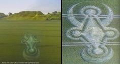"""Planet of Crossing"" The Castle Hill Wiltshire UK Crop Circle 