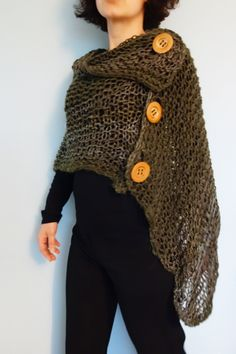Ravelry: Side Button Poncho pattern by Patons Knitting ...