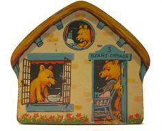 1930s MacFarlane Lang biscuit tin 'Three Bears Cottage'