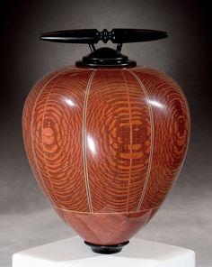 Kim Blatt Woodturning : Vessel Gallery One : Leopard Wood Vessel