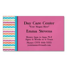 Nanny Child Day Care Babysitter Business Card Child Care