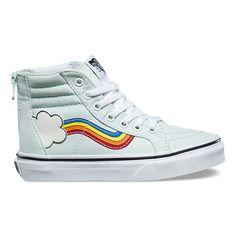 546e519241 Kids Rainbow Sidestripe SK8-Hi Zip