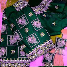 Detailing at its high. Wedding Saree Blouse Designs, Pattu Saree Blouse Designs, Blouse Designs Silk, Hand Work Blouse Design, Simple Blouse Designs, Stylish Blouse Design, Sleeve Designs, Birthday Gifts, Happy Birthday