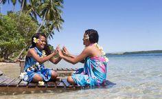 Tonga, Vava'u, Ofu island, beach