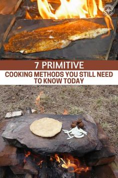 7 Primitive Cooking Methods You Still Need to Know Today - Did you know that there is more than one way to cook with fire? It Sounds silly and unnecessary but wait until you see these primitive cooking methods that would still work perfectly today! Survival Life, Survival Food, Camping Survival, Outdoor Survival, Survival Prepping, Survival Skills, Camping Hacks, Survival Supplies, Survival Hacks