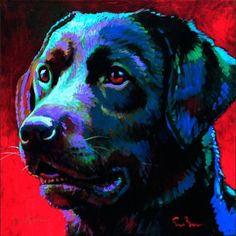 Labrador Retriever – Intelligent and Fun Loving Paintings I Love, Animal Paintings, Paint Your Pet, Wow Art, Watercolor Animals, Dog Portraits, Dog Pictures, Pet Birds, Illustration