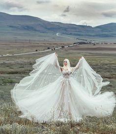 Amazing hijab wedding dressfemme voilee