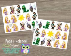 Tangled cupcake toppers Princess Rapunzel Cupcake Toppers