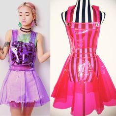 Harajuku transparent galaxy suspended skirt SE10341
