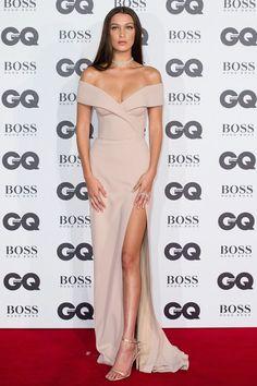 Bella Hadid in custom Boss. | GQ Men Of The Year Awards 2016 - Celebrity Red Carpet Photos | British Vogue