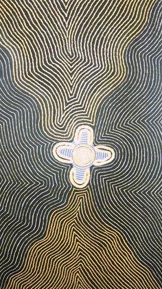 Aboriginal  Mayleene Marshall Napanangka  # Womens Dreaming  # acrylic on canvas  # 122 x 71cm