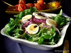 Salata de cartofi cu oua si ceapa rosie Spinach, Tacos, Healthy Eating, Vegetarian, Chicken, Vegetables, Ethnic Recipes, Weights, Salads
