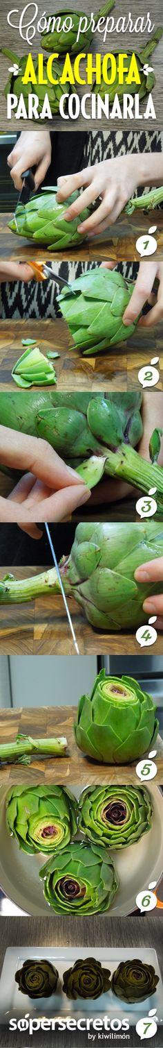 Cómo preparar alcachofa fácilmente.
