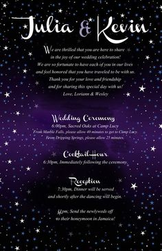 Starry Night Wedding Itinerary designed to by Wedding Invitation Content, Muslim Wedding Invitations, Indian Wedding Invitation Cards, Wedding Shower Invitations, Wedding Card Wordings, Wedding Cards, Wedding Quotes, Wedding Ideas, Starry Night Wedding