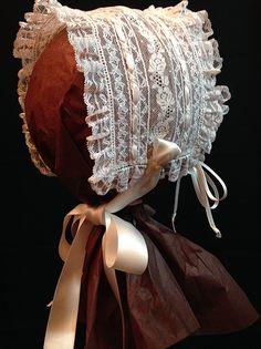 Nancy's Heirloom Shoppe, Creations, Greenville, AL:  Lace T- Bonnet - Lovely!
