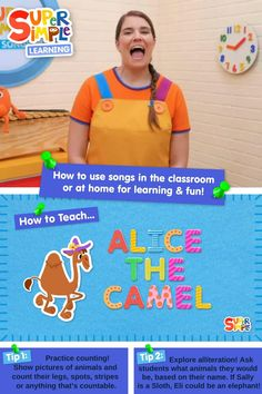 "How do I teach ""Alice The Camel"" to kids? Caitie demonstrates the gestures and shares some activity ideas for our version of this popular kids song."