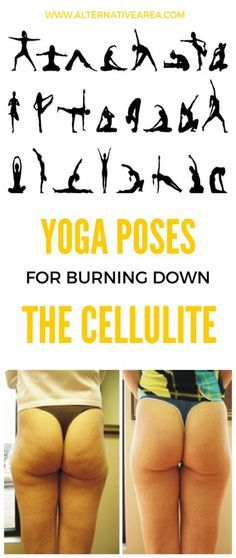 Yoga Poses For Burning Down The Cellulite