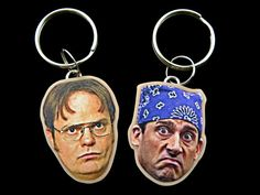 michael scott and dwight schrute keychains  the by CleopatraCandy