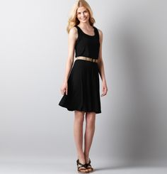 Loft - LOFT Dresses - Shirred Neck Tank Dress    An easy relaxed dress to pair with my cowboy boots and chunky jewelry.