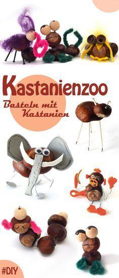 Häschen, Raupen und komische Rüsseltiere: Lassen Sie sich inspirieren für die nächste Kastanien-Herbstbastel-Runde.