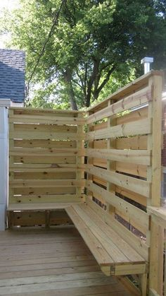 Ideas Backyard Deck With Hot Tub Privacy Screens Hot Tub Privacy, Backyard Privacy Screen, Privacy Fence Designs, Privacy Screen Outdoor, Backyard Fences, Yard Fencing, Privacy Fences, Privacy Deck Walls, Deck Railing Ideas For Privacy