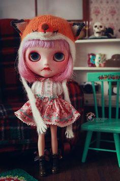 Miss. Frida  OOAK Fantasy's Custom Blythe Doll por ClaDaydreaming