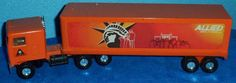 ALLIED MOVING VAN Statue of Liberty Kenworth Cab trailer Ertl Truck 1980's? E5 #Ertl #Kenworthcab