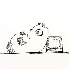 【一日一大熊猫】2016.7.9 暑くて眠れない人は、 氷枕やアイスノンを使ってみよう。 驚くほど快適だよ。 #パンダ