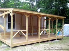 Mobile home porch adds such nice outdoor living space possibilities.  front-porch-ideas-and-more.com