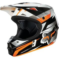 Amazon.com: Fox Racing Costa Youth Boys V1 MotoX/Off-Road/Dirt Bike Motorcycle Helmet - Orange / Small: Toys & Games