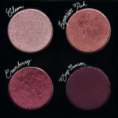 MAC - Custom eyeshadow palette in Gleam, Expensive Pink, Cranberry, Deep Damson
