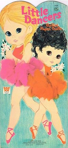 Little Dancers Ballet Ballerina Paper Doll PAPERDOLL Book Dolls 1970 Vintage   I had these! They were cool cause their outfits were an actual photograph of real clothing.
