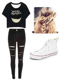 """Untitled #6"" by mystik-aje ❤ liked on Polyvore featuring Converse, River Island, women's clothing, women's fashion, women, female, woman, misses and juniors"