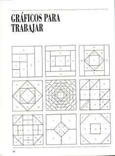 Patchwork Course – Courses and tutorials for crafts - Deutschland Ideen Barn Quilt Patterns, Paper Piecing Patterns, Patchwork Patterns, Patchwork Quilting, Pattern Blocks, Tutorial Patchwork, Patchwork Ideas, Log Cabin Patchwork, Log Cabin Quilts
