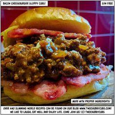 bacon cheeseburger sloppy cubs - twochubbycubs